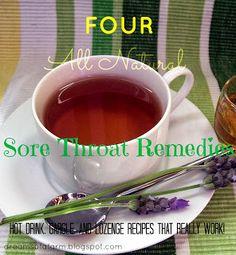 Dreams Of A Farm: 4 Natural Sore Throat Remedies