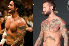 A picture of CM Punk then and now as he used to weigh well over 200 pounds in his days at WWE. Now with him at 170 pounds do fans think that his experiment into the MMA world will make a difference with his new physique?