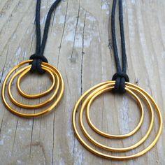 DIY Triple Circle Pendant Necklace