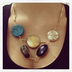 DIY#stone#necklace