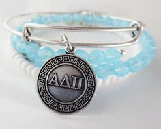 This was my gift from my Girls' Weekend gift exchange.... I NEVER take it off... I love those girls so much!  Alpha Delta Pi #withlove