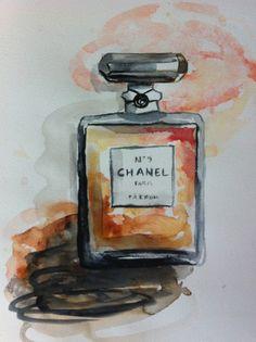 Aquarelle Chanel