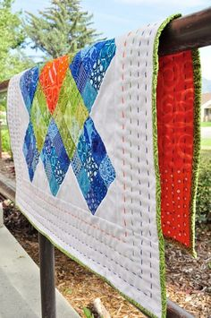 long stitch quilting | ... really like the long stitch, colorful hand ... | Quilt Design Inspi