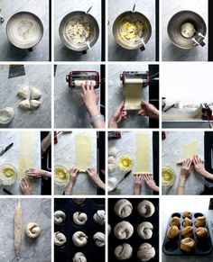 How to make cruffin with pasta machine Cruffins (Croissant + Muffin) Utterly flaky & shatter! Cronut, Bread Recipes, Cooking Recipes, Bakery Recipes, Breakfast And Brunch, Brunch Cake, Recipe Land, Pasta Machine, Bread And Pastries