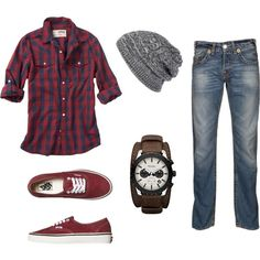 """Men's Casual Wear"" by annagoesglobal on Polyvore (Minus hat)"