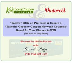 Grocery Coupon Network Pinterest Contest