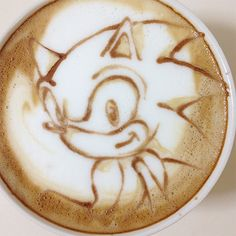Sonic! - Latte Art by Nowtoo Sugi