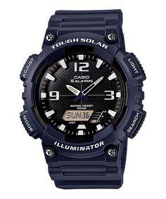 Solar AnaDigi Watch Navy Wht - Casio - AQS810W-2A2V