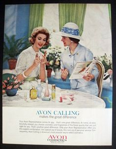 Vintage Ad possibly 1963. Headline: AVON CALLING makes the great difference.