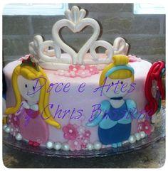 Bolo Princesas da Disney