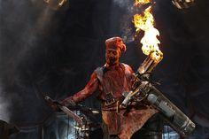 Rammstien perform in Colorado, USA 2012. Feuer frei bang bang!