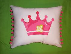 Made to Order pillow, one new custom Princess Crown Pillow made with your choice of Lilly Pulitzer fabric. $28.00, via Etsy. Perfect for ZTA