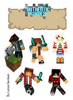 Minecraft 9, Minecraft Crafts, Games W, 10th Birthday, Cake Toppers, Lego, Clip Art, Printables, Stickers