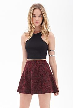 Paisley Embroidery Skirt | FOREVER21 - 2000120203 15$