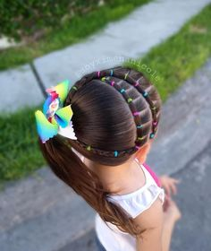 Image may contain: one or more people, outdoor and closeup Cute Toddler Hairstyles, Easy Little Girl Hairstyles, Natural Hairstyles For Kids, Cute Girls Hairstyles, Princess Hairstyles, Easy Hairstyles, Natural Hair Styles, Long Hair Styles, Braid Styles For Girls