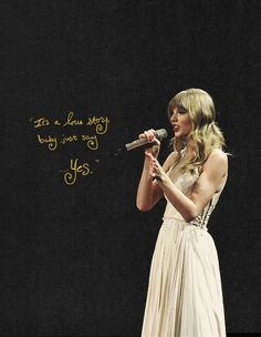 Love story- Taylor Swift quotes