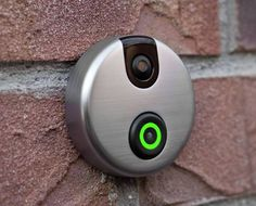 WiFi doorbell lets you speak with people at the door with your smart phone.