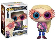 Funko POP Luna Lovegood with Glasses Summer Convention Exclusive. Luna Lovegood, the quirky Ravenclaw from Harry Potter, is is given a fun, and funky. Objet Harry Potter, Theme Harry Potter, Funko Pop Harry Potter, Harry Potter Pop Figures, Skottie Young, Otaku, Pop Vinyl Figures, Art Pulp Fiction, Funko Pop Dolls