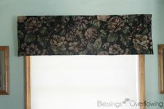 Valance from Upholstery Fabric No Sew Curtains, Valance Curtains, Valance Ideas, Valance Tutorial, Custom Valances, Car Upholstery, Camper Makeover, Blessed, Easy