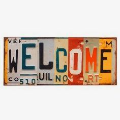 Add a charming touch to your home with this lovely wall decor, showcasing a license plate-inspired design and metal frame. Product: Wall decorConstruction Material: Metal Color: Multframe Features: License plate-inspired Dimensions: H x W License Plate Crafts, Old License Plates, License Plate Art, Licence Plates, Wall Decor, Wall Art, Art Graphique, Joss And Main, Metal Signs