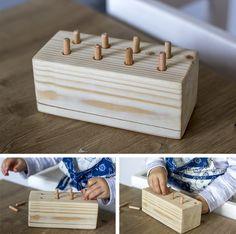Wooden dowel toy, DIY Montessori toys/activities