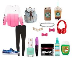 """""""Outfit for @redhamster"""" by hoodiesforlife on Polyvore featuring Dorothy Perkins, Victoria's Secret, Beats by Dr. Dre, L'Oréal Paris, Aéropostale, Vans, Marc by Marc Jacobs, Accessorize, Topshop and women's clothing"""