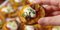 These cheesy bites taste just like potato skins, but they're SO much easier.