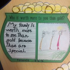 """Sayi g for st patty day art. """"You're worth more than gold to me... I'm the lucky one!"""""""