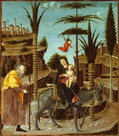 Bernardino Jacobi Butinone (Italian, 1484-1507)  The Flight into Egypt, c. 1485