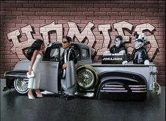 Joka jam. Chicano Drawings, Chicano Tattoos, Chicano Love, Chicano Art, Lowrider Art, Lowrider Bike, Rhino Pictures, Cholo Art, Brown Pride