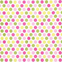puntos de color rosa-verde minky felpa felpa Mod Dot 2
