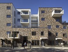 social housing - Granville Road - South Kilburn, London NW6 - architects Levitt Bernstein - project architect - Michael Holms Coats (now TROLLEY)