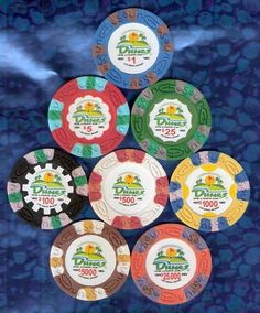 Set of 8 Dunes Las Vegas Casino Commemorative Chips