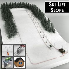 Buy Ski slope lift mountain pack by on Medium detailed model of ski lift station pack. Model is fully textured with all applied materials: - textures for. Christmas Tree Village Display, Christmas Village Display, Christmas Town, Christmas Villages, Christmas Crafts, Christmas Decorations, Halloween Christmas, Model Village, Ski Slopes
