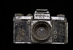 "One of Miroslav Tichy's ""recovered"" cameras"