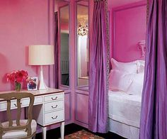 Ivy Clad: Alcove Beds. The color is a bit much but I like the space