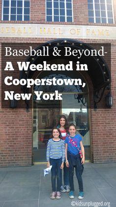 Baseball Hall of Fame Cooperstown New York Cooperstown Dreams Park, Cooperstown New York, Cooperstown Hall Of Fame, New York Vacation, New York Travel, Travel With Kids, Family Travel, Travel Baseball, Lake George Village
