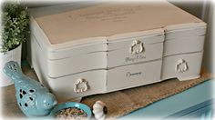 Silverware Box turned into a Jewelry box or for keepsakes.  ~by Vintage Cove.