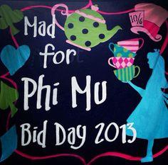 Mad for Phi Mu bid day theme