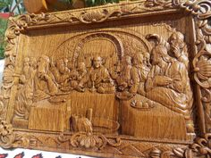 Last Supper Wood Carving Religious Icon 2 Christian Gifts Wall Art Handmade Home Decor from Artworkshop Tree of life FREE SHIPPING FREE ENGRAVING >> Additional details at the pin image, click it  : Handmade Gifts