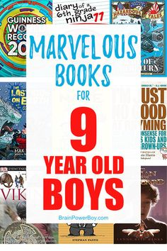 Here are the best books for 9 year old boys. Selected by a boy mom who worked at a library and knows what boys this age really like and will read.