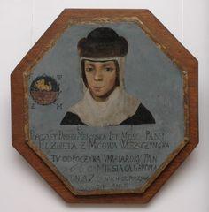 portret trumienny, olej na blasze, XVIII w. Muzeum Diecezjalne w Siedlcach