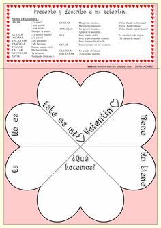 BLOG-Me encanta escribir en español-This is a great blog full of ideas for lesson plans and teaching both grammar and vocabulary. I will probably use this one for Valentines Day!
