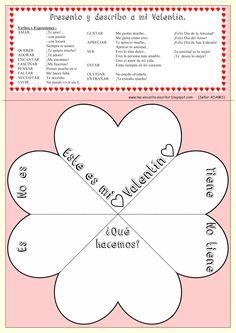 Me encanta escribir en español: presentacionesSan Valentín