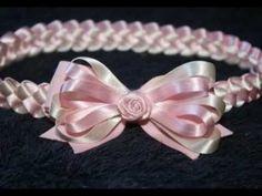 DIY: DIADEMA TRENZADA EN CINTA DE RASO PASO A PASO (braided headband satin ribbon) - YouTube