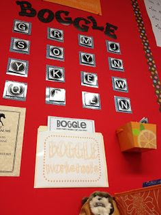 For early finishers.  Change letters each week.