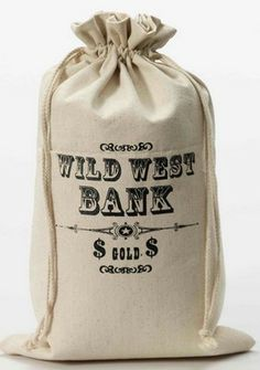 Wild West Outlaw Money Bag