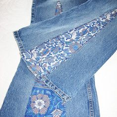 Patchwork Jeans - Boho, Hippie Bell Bottoms by Serendipitys Touch .