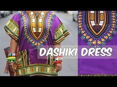 DIY: DASHIKI PRINT TOP WITH POCKETS....ANKARA IN 4 MINS - YouTube