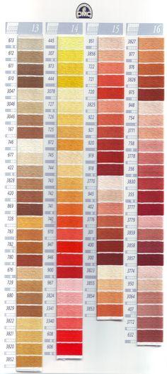 deze kleurenkaart vindt u de garennummers voor Mouline art 117 en